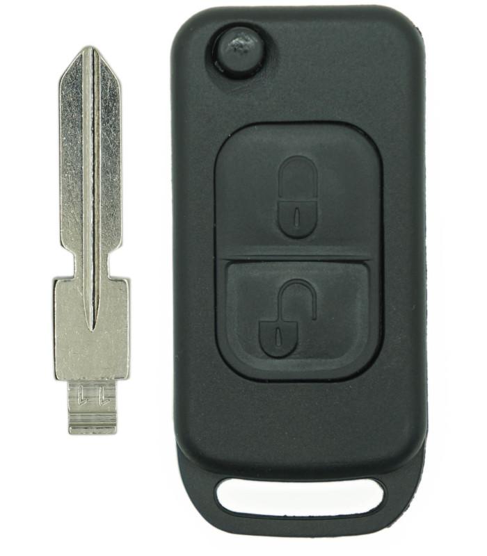 Coque + lame compatible Mercedes 2 boutons