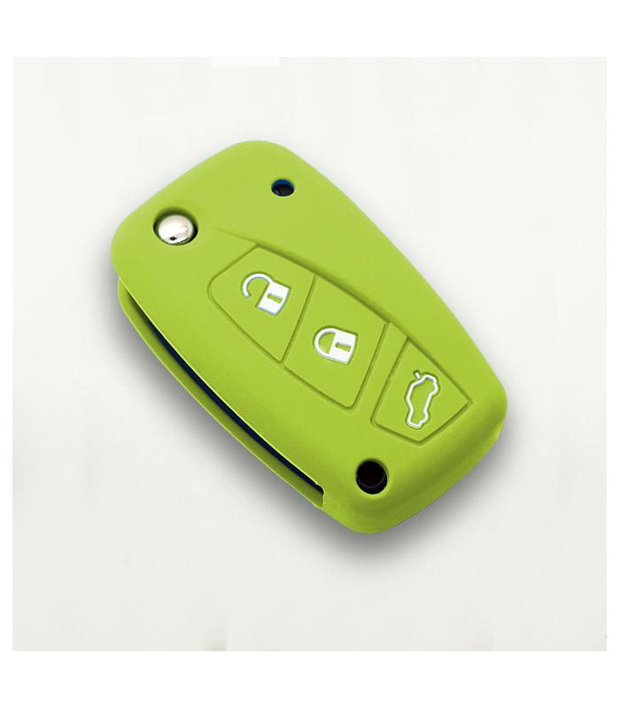 Housse en silicone pour Fiat 3 boutons