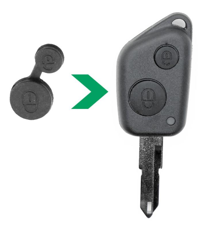 Boutons 2 touches pour Peugeot x2