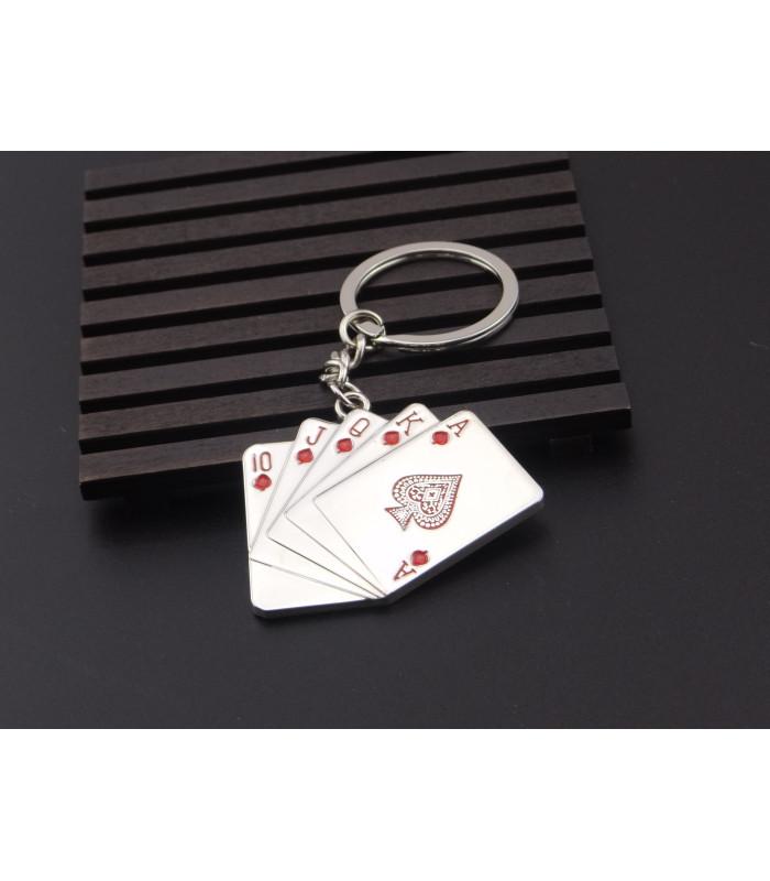 Porte clés Métal Poker