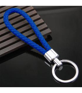 Porte clés Tresse Bleu Marine