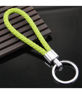 Porte clés Tresse Vert Pomme