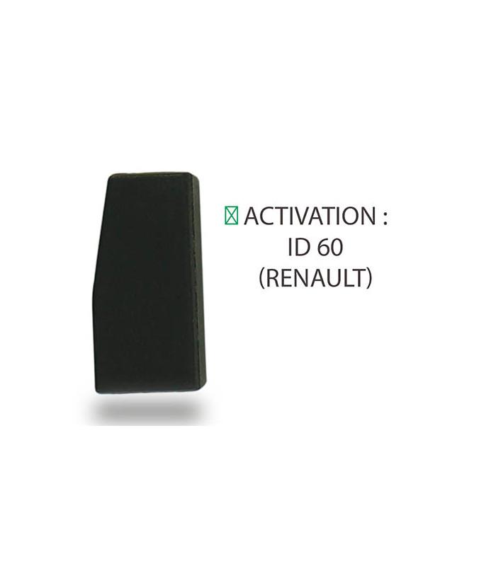 Transpondeur activation ID 60 Renault