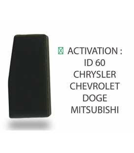 Transpondeur activation ID 60 Chevrolet, Chrysler, Doge, Mitsubishi