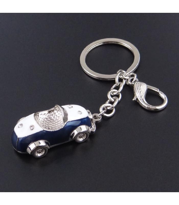 Porte clés Auto Rétro Bleu marine