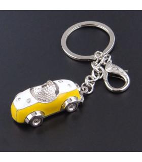 Porte clés Auto Rétro Jaune