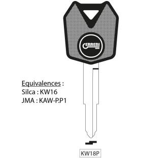 Clé à transpondeur profil type KW16