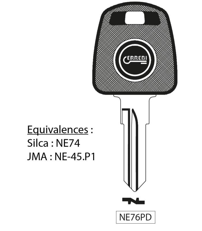 NE76PD - Clé à transpondeur