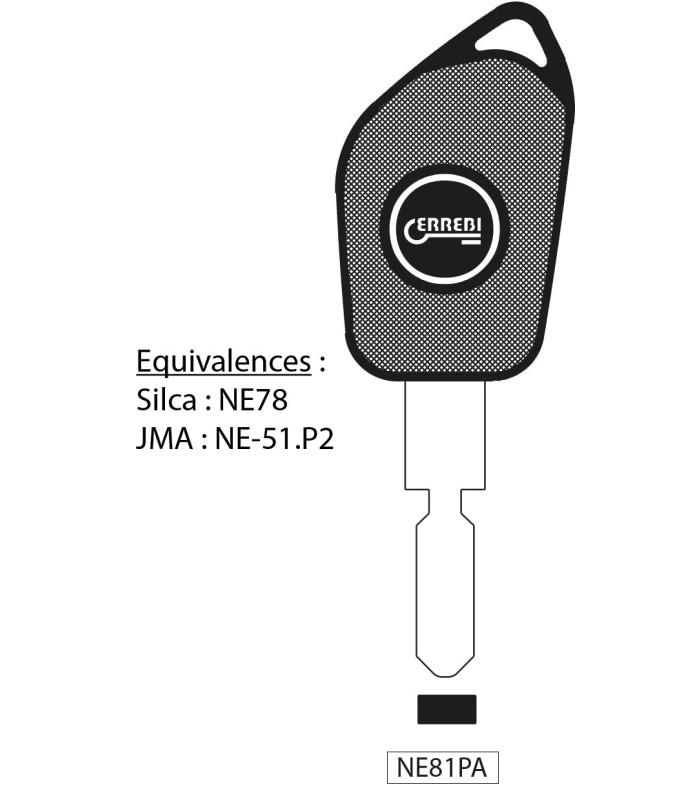 NE81PA - Clé à transpondeur