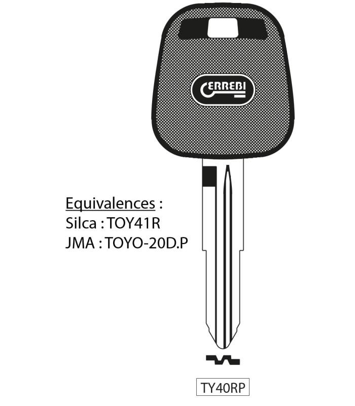 TY40RP - Clé à transpondeur
