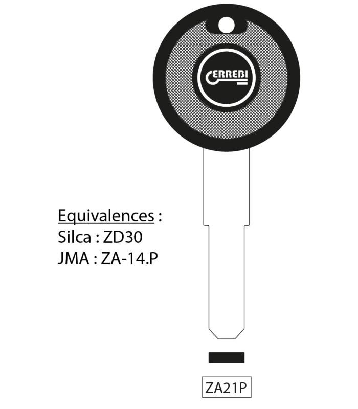 ZA21P - Clé à transpondeur