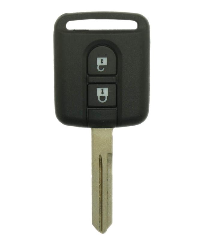 Boitier télécommande Nissan 2 boutons pour Almera, Primera, Terrano, X-trail, Micra K12, Note, Navara, Qashqai, NV200, Patrol, C