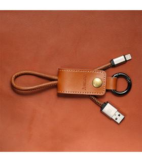 Porte clé chargeur Marron USB / LIGHTNING