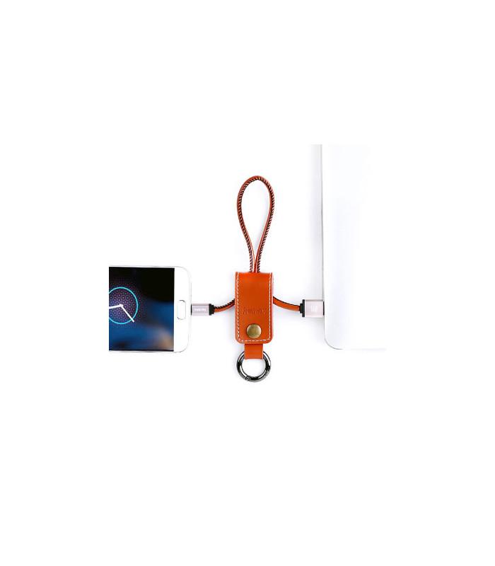 Porte clé chargeur Marron USB / MICRO-USB
