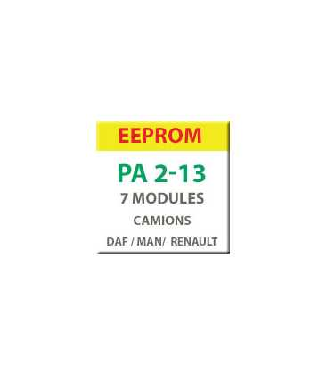 MiraClone - EEPROM Pack 7 modules Camions et utilitaires DAF, MAN et Renault