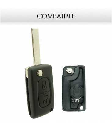 Télécommande compatible Peugeot 308, 807, Expert, Citroën C8, Dispatch