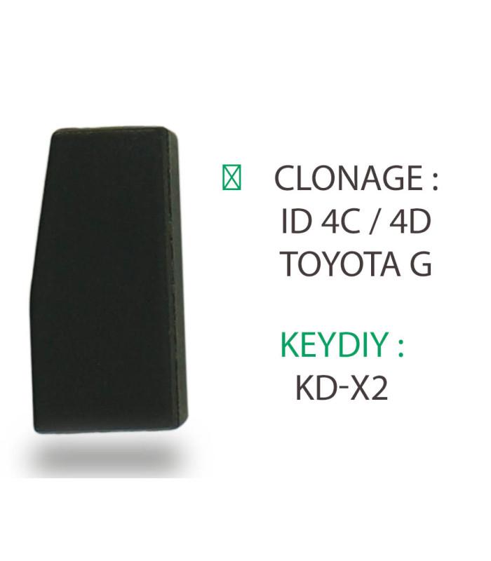 Clonage transpondeur ID 4C / 4D Toyota G pour KD-X2 de Keydiy