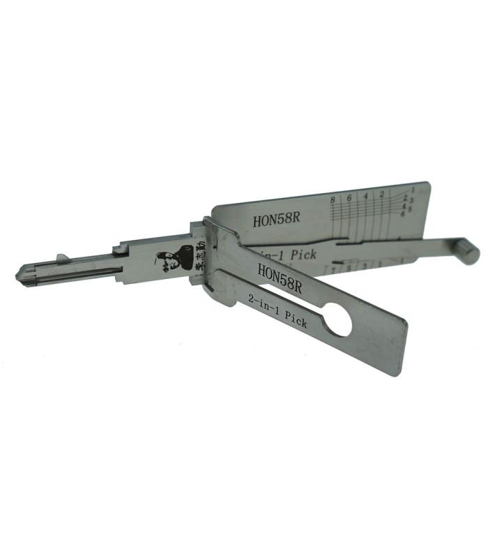 Lishi HON58R-AG crocheteur décodeur pour HON58R 2-in-1 Mr Li