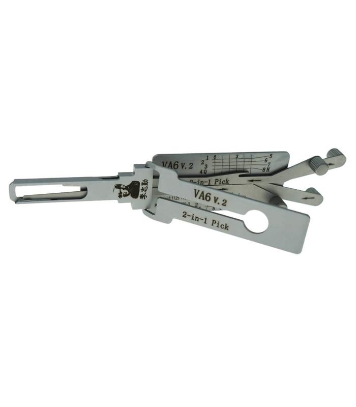 Lishi VA6-QUAD crocheteur décodeur pour VA6 2-in-1 Mr Li