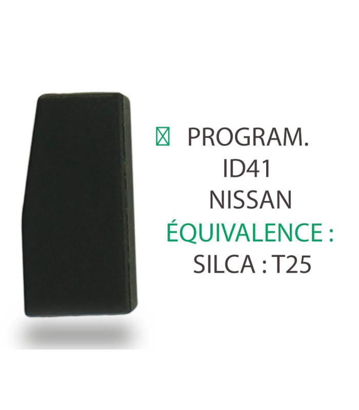 Transpondeur Philips Crypto ID41 Nissan (Silca T25)