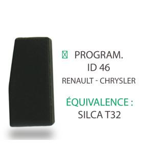 Transpondeur Philips Crypto ID46 Renault, Chrystler (Silca T32)