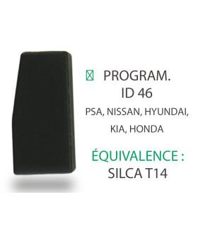 Transpondeur Philips Crypto ID46 PSA, Nissan, Hyundai, Kia, Honda (Silca T14)