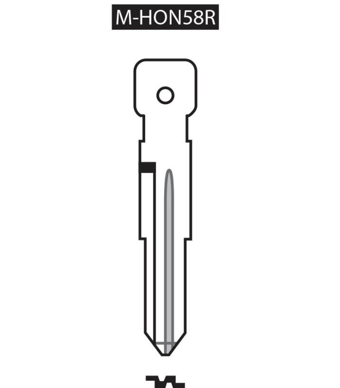 M-HON58R, Ebauche pour clé à transpondeur profil HON58R