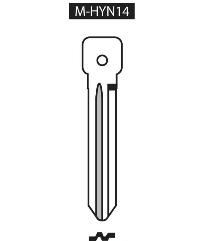 M-HYN14, Ebauche pour clé à transpondeur profil HYN14