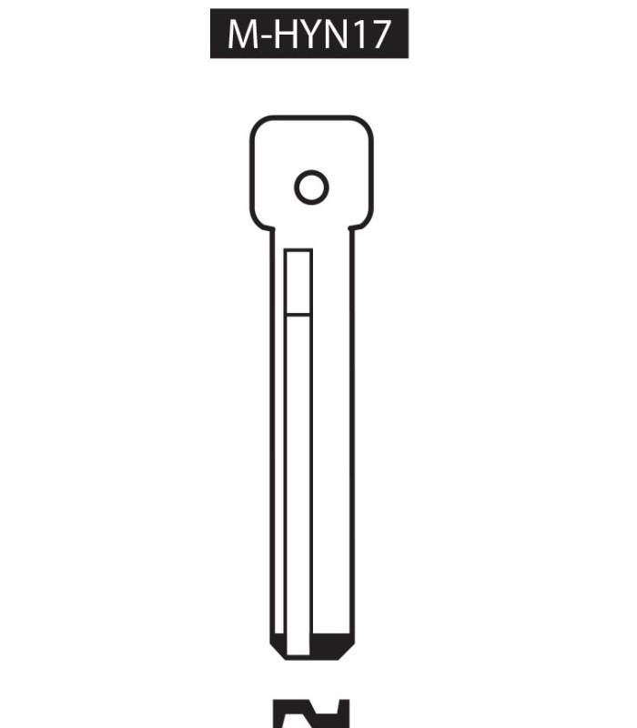 M-HYN17, Ebauche pour clé à transpondeur profil HYN17