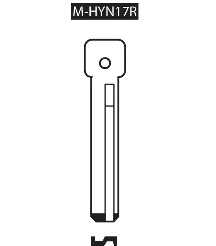 M-HYN17R, Ebauche pour clé à transpondeur profil HYN17R
