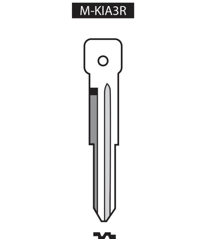 M-KIA3R, Ebauche pour clé à transpondeur profil KIA3R