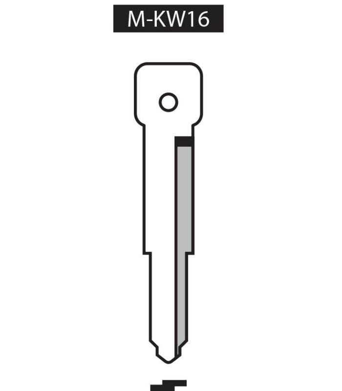 M-KW16, Ebauche pour clé à transpondeur profil KW16