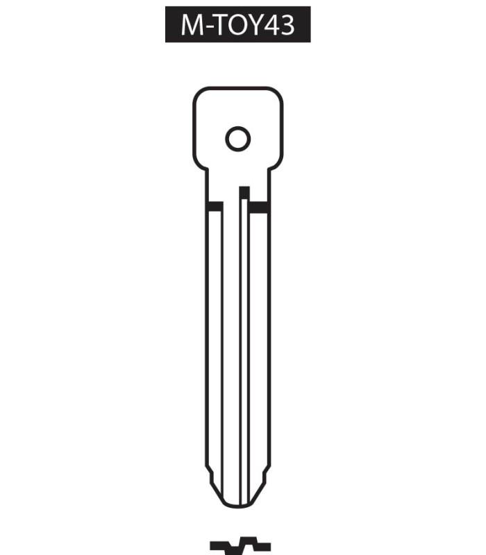 M-TOY43, Ebauche pour clé à transpondeur profil TOY43