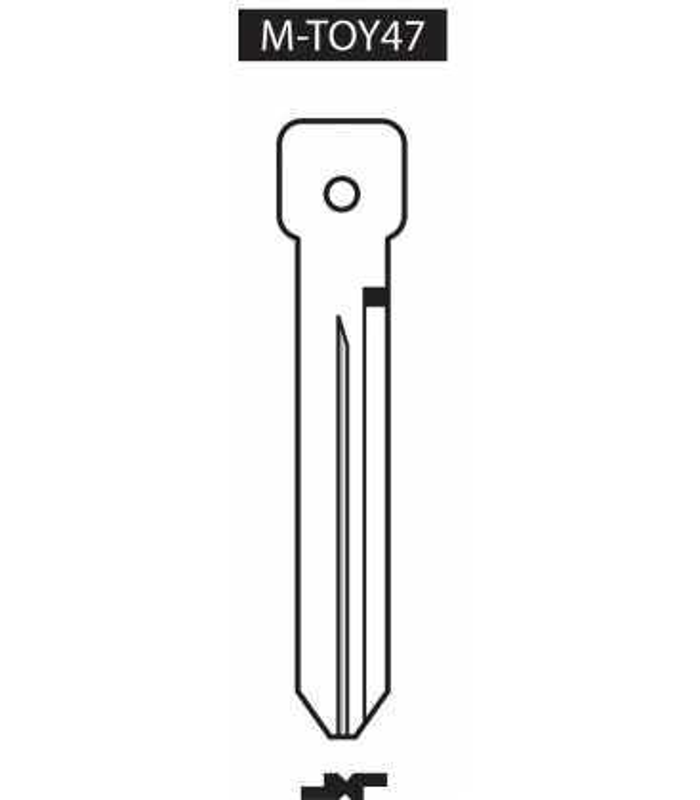M-TOY47, Ebauche pour clé à transpondeur profil TOY47