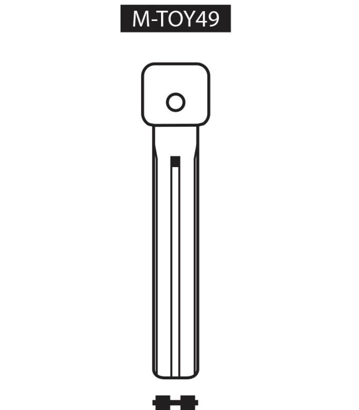 M-TOY49, Ebauche pour clé à transpondeur profil TOY49