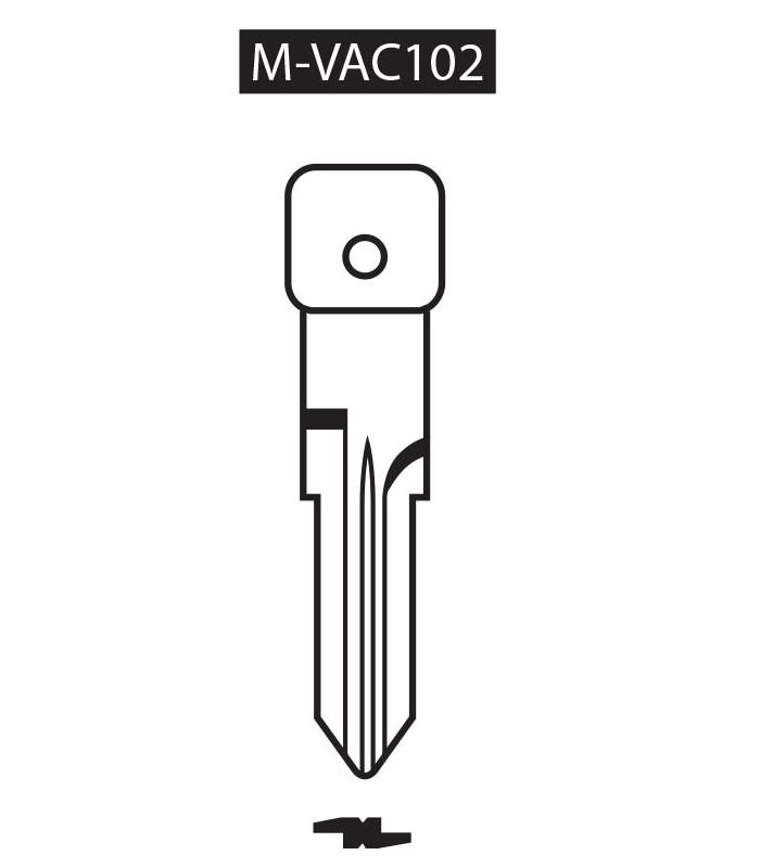 M-VAC102, Ebauche pour clé à transpondeur profil VAC102