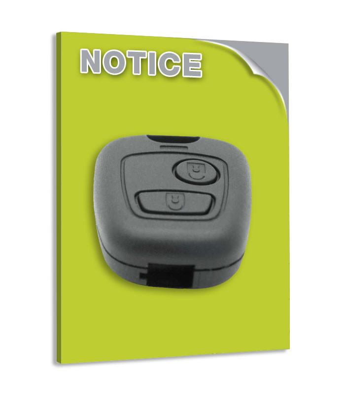 Programmation manuelle télécommande CITROEN BERLINGO 1ère gen 1996 à 2007
