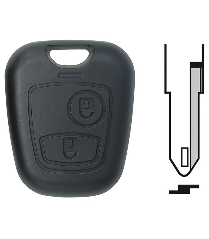 Coque de clé Peugeot 106, 206 et 206+