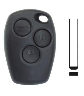 Coque de clé Renault 3 boutons pour  Clio III, Kangoo II, Master III, Modus, Trafic III