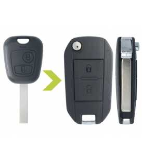 Coque de clé modifiée Peugeot 307, 307 CC et SW