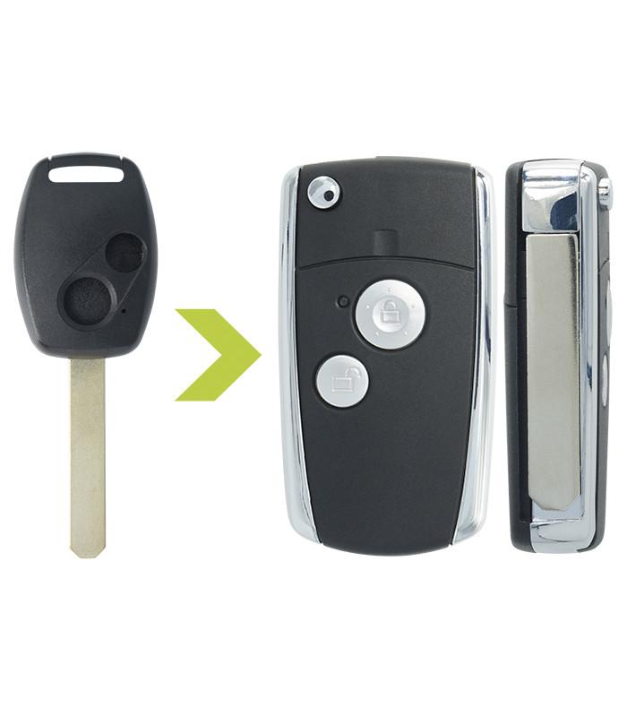 Coque clé auto Honda 2 bouton Civic VIII, Jazz, Jazz II, CR-V, HR-V, Insight