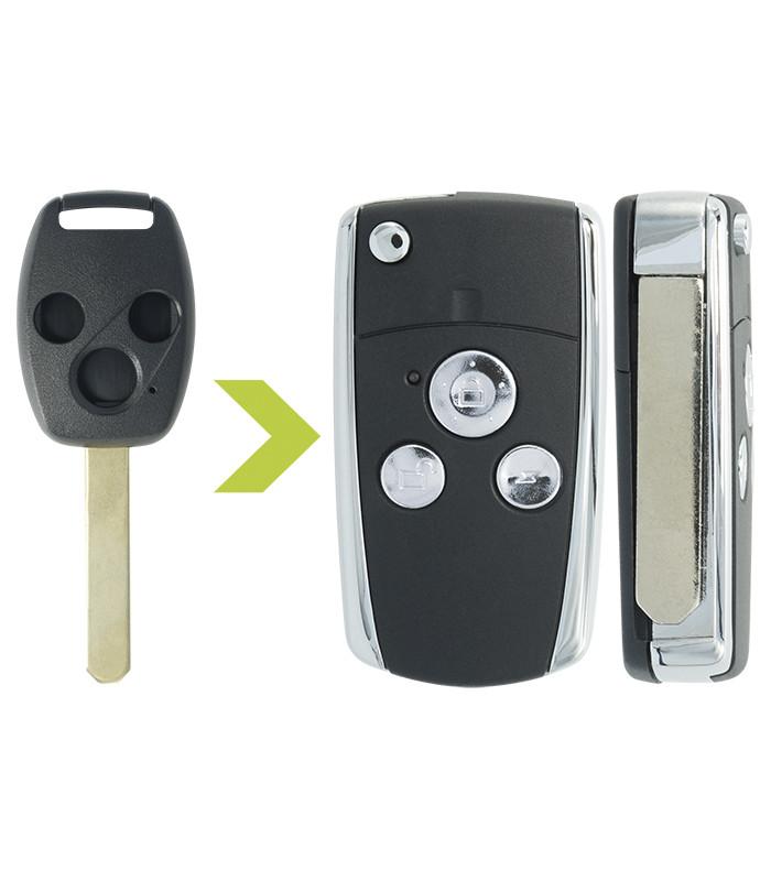 Coque clé modifiée Honda 3 boutons pour Accord (2003-2008), CR-V (2005-2006)