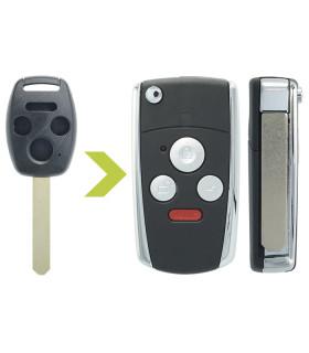 Coque clé modifiée Honda 4 boutons