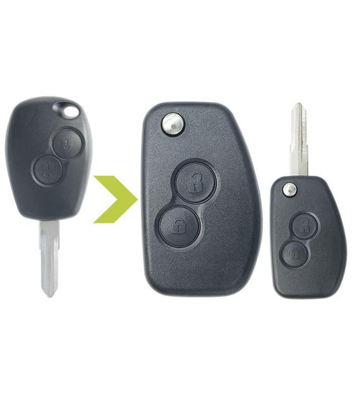 Coque de clé modifiée Renault 2 boutons: Dokker (2012-2019), Duster (2010-2019), Lodgy ...