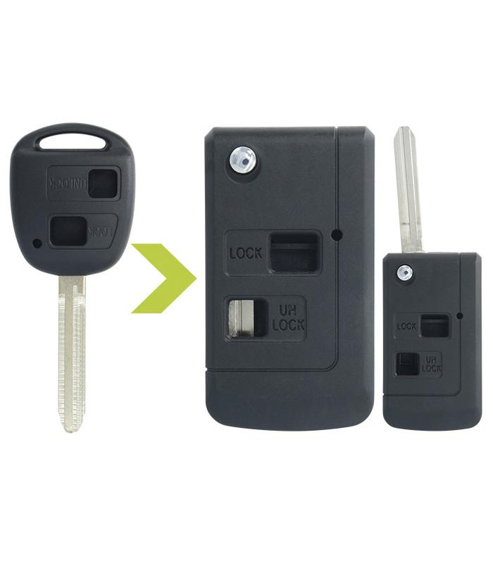 Coque clé modifiée 2 boutons pour Lexus, Auris, Land Cruiser, Rav4, Verso, Yaris