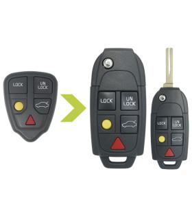 Coque de clé 5 boutons Volvo S70 V70 C70 S40 V40 XC90 XC70 conversion en coque avec Lame