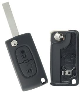 Coque de clé 2 boutons pour Peugeot 207, 307SW, 308SW..Citroen Jumpy, C4, C8..