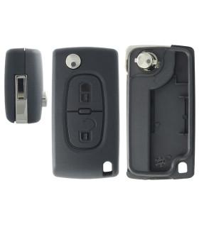 Coque de clé 2 boutons Peugeot Expert, Partner, Citroen Jympy, C3 pluriel