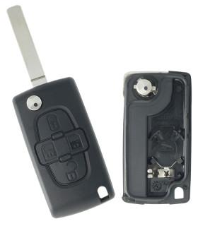 Coque de clé Peugeot 4 boutons 1007 (2005-2009)
